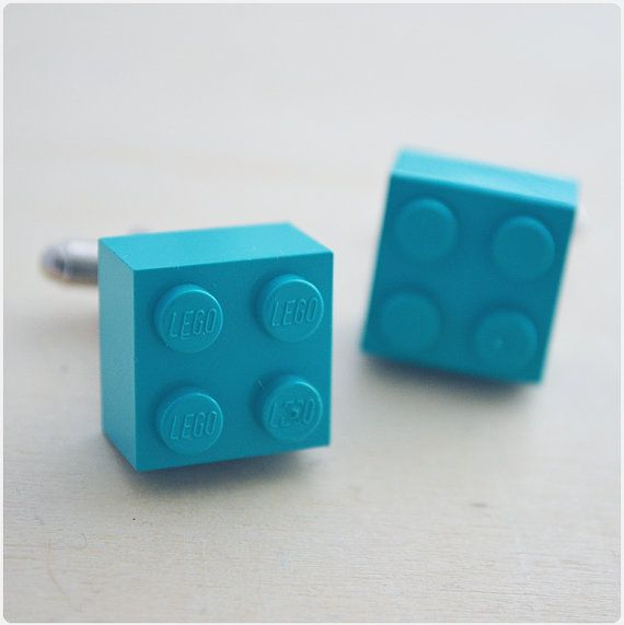 Hey, I found this really awesome Etsy listing at http://www.etsy.com/listing/127608352/turquoise-groom-cufflinks-with-lego