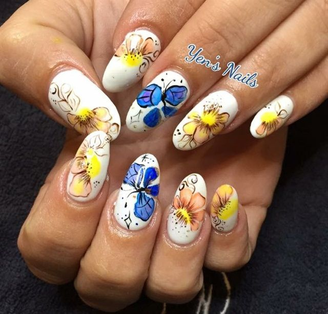 514 Best Images About Flower Nail Art On Pinterest