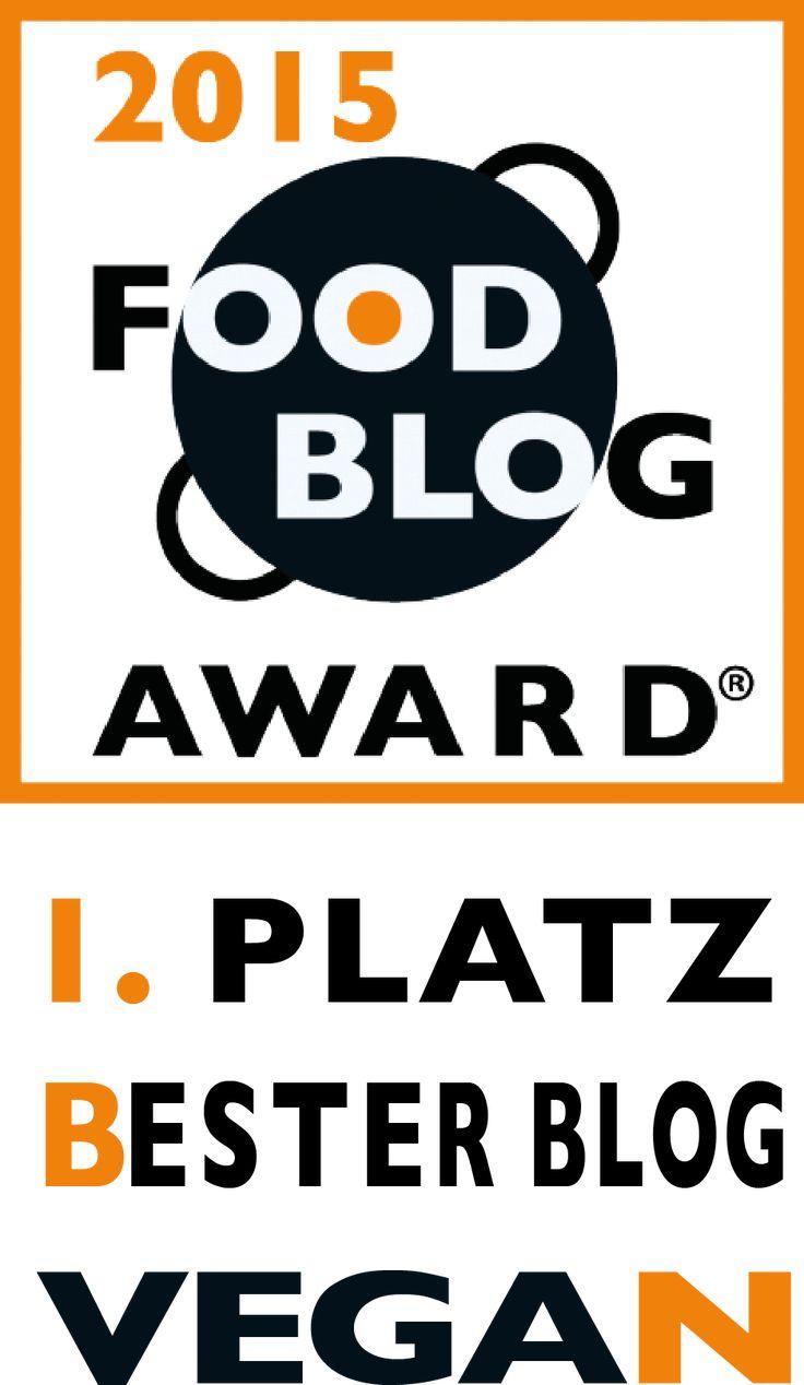 Food Blog Award 2015 Platz 1 Bester Blog – Vegan