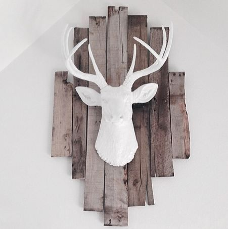 We are loving the way that one of our clients @farah g Prochaska has used The Templeton in her space! He looks great on top of those rustic boards!