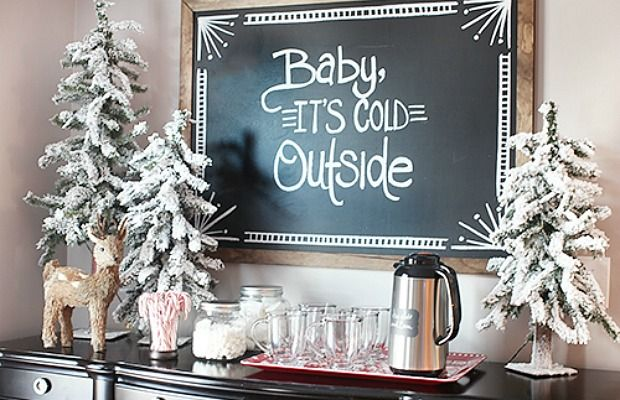 A mini version of your floor-to-ceiling fir can still make a big impact.