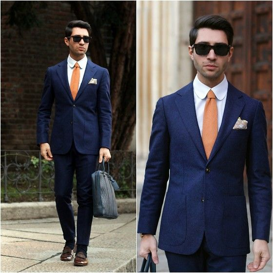 Louis Vuitton Document Holder, Suitsupply Suit, Cartier Sunglasses, Tangerine Shoes