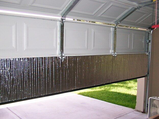 How To Insulate A Garage Door Garage Insulation Garage Door Insulation Door Insulation