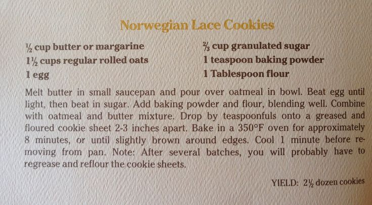 Norwegian Lace Cookies