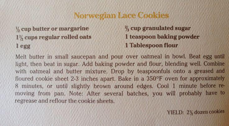 Norwegian Lace Cookies