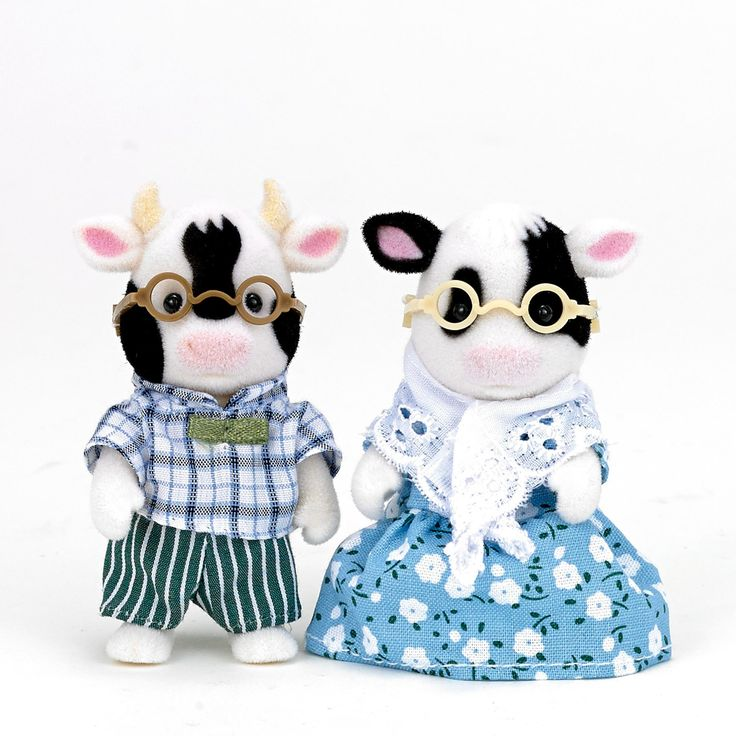 Sylvanian Families Friesan Cow Grandparents Set
