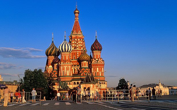 Moscow.  St. Basil's in Red Square