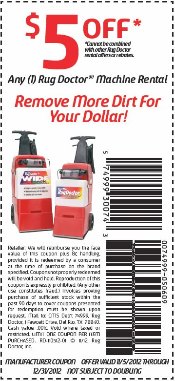 Rug Doctor: $5 Off Printable Coupon | Money Saving Deals And Coupons |  Pinterest | Rug Doctor, Printable Coupons And Doctors