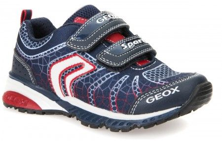 Geox Bernie Navy Red Trainers - Geox Kids Shoes - Little Wanderers