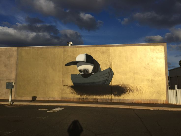 """""""Drowning within"""" Stormie Mills for the Heartwalk mural festival in Kalgoorlie."""