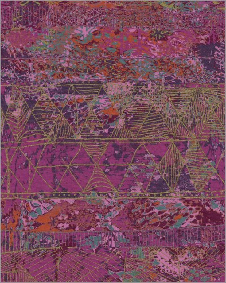 Jenny Jones Rugs - Contemporary, Zulu Dance Jewels hand knotted using Chinese silk and Tibetan handspun wool