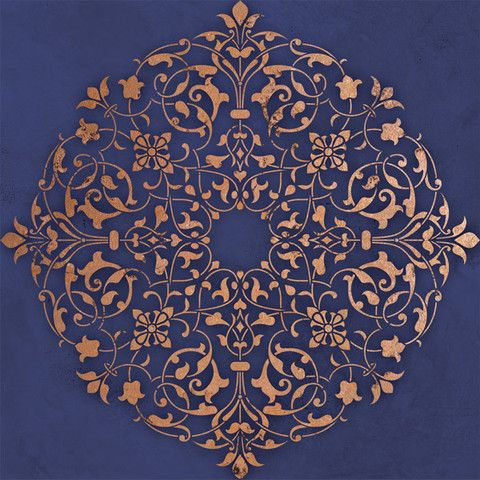 Arabesque Ceiling Medallion Stencil by Royal Design Studios    Beautiful design with so many application possibilities!      What's on your ceiling or walls or furniture?