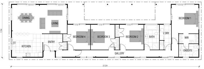 Stunning Modern Rectangular House Plans Gallery - 3D house designs .... 3D house designs - 3d house plans