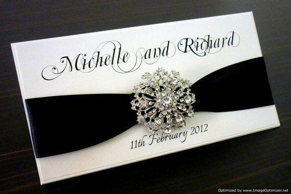 Hey, I found this really awesome Etsy listing at https://www.etsy.com/listing/91698305/black-white-elegant-wedding-invitation