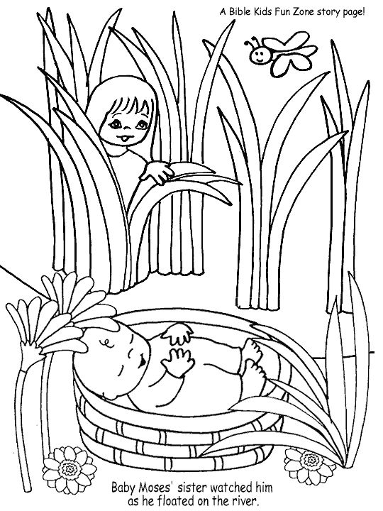 childrens bible stories coloring pages moses | Baby Moses | Children's Bible Lessons | Pinterest