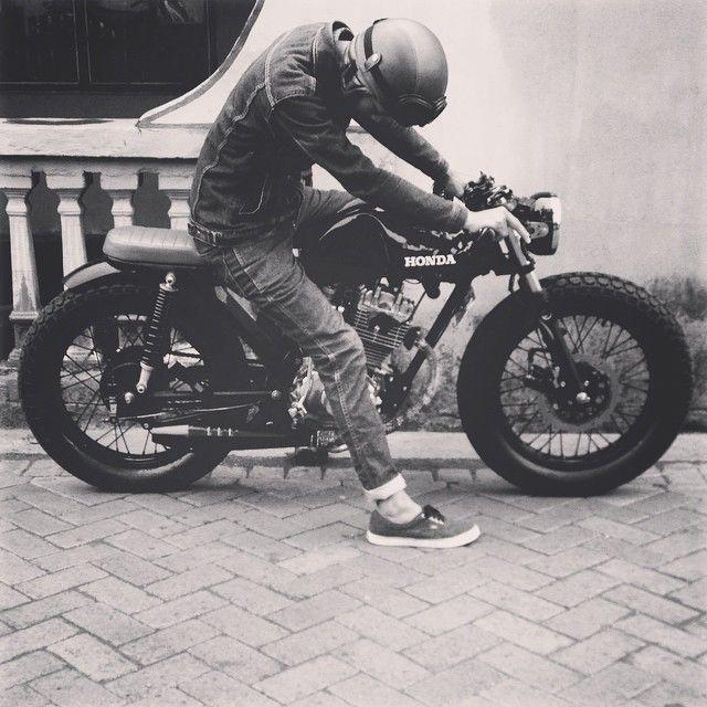 "motomood: ""Honda CB125 cafe racer """