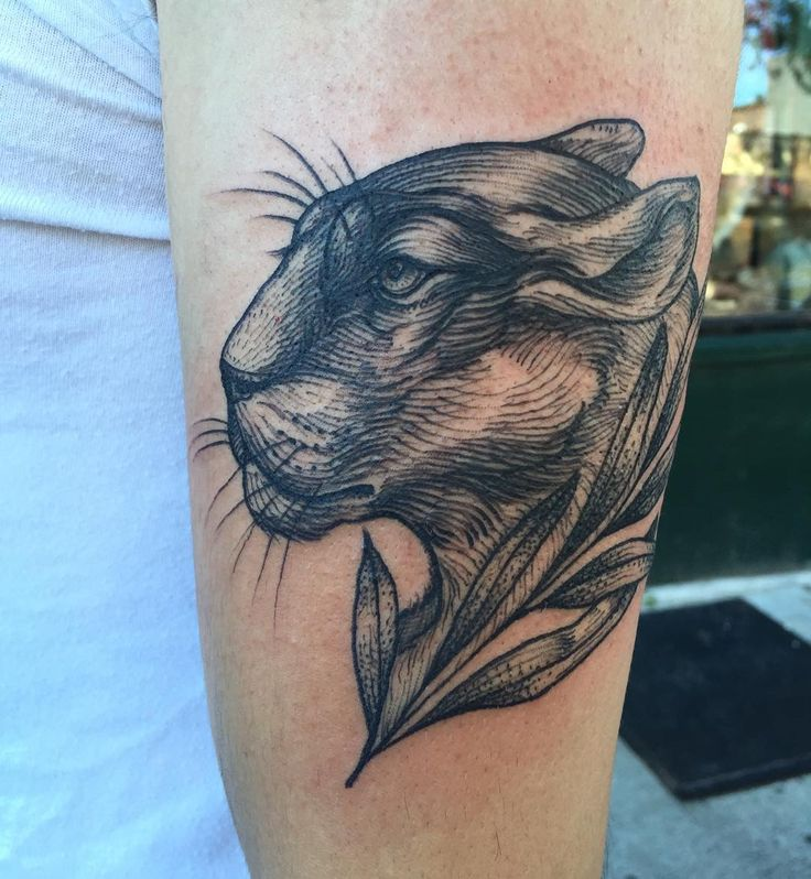 2pac Panther Head Tattoo