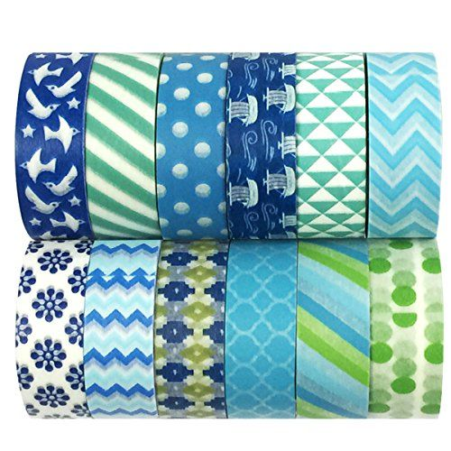 AllyDrew Blue & Greens Washi Tapes Decorative Masking Tapes (ADSET14), Set of 12 AllyDrew http://www.amazon.com/dp/B018HGA4N6/ref=cm_sw_r_pi_dp_Sa93wb1ETRDJK