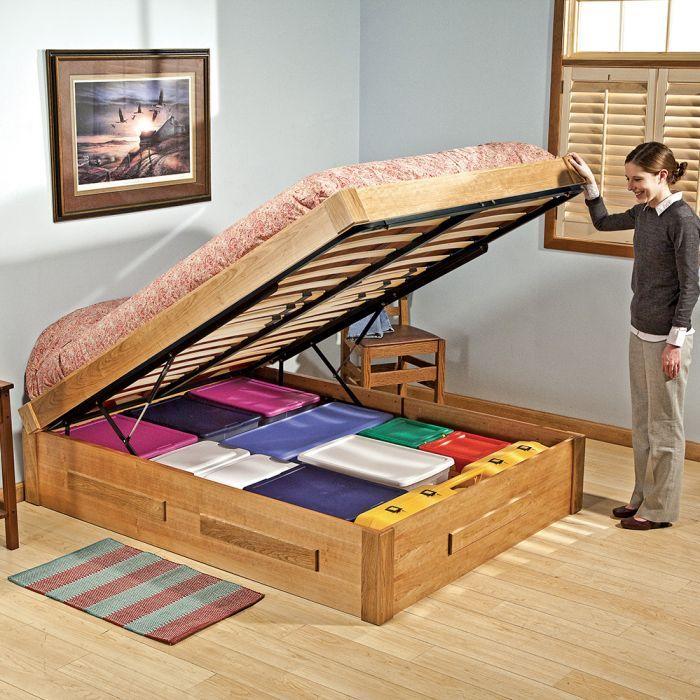 Platform Bed Lift Mechanism With Mattress Platform And Wooden