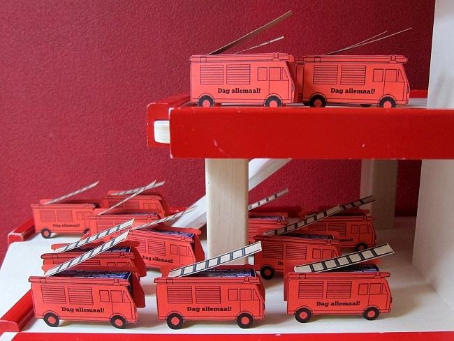 brandweerwagen traktatie