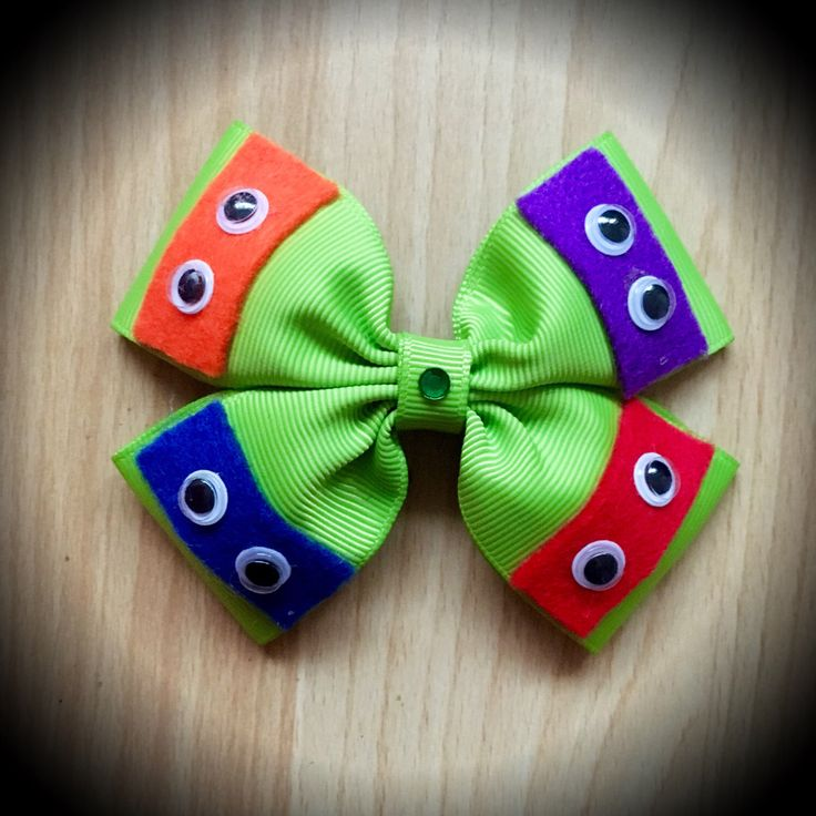 Ninja Turtles Green Character Inspired Hair Bow by ClarkesGeekBowtique on Etsy https://www.etsy.com/listing/451164376/ninja-turtles-green-character-inspired