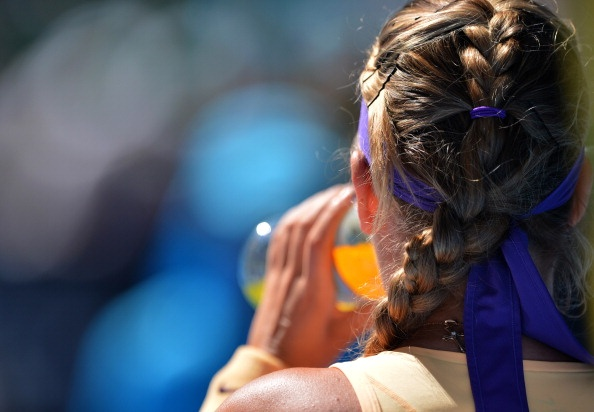 Victoria #Azarenka's signature braids. #ausopen