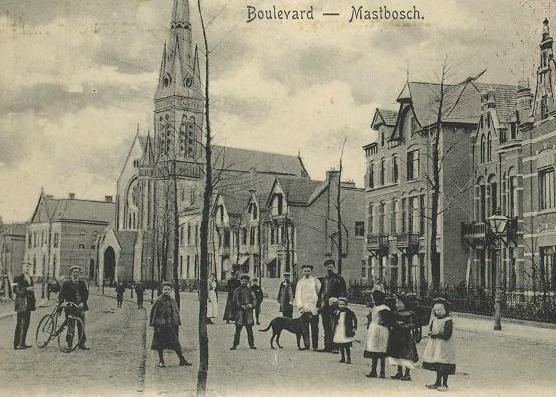 Breda - Boulevard Breda-Mastbosch - Later de Baronielaan - De foto is gemaakt rond 1902.