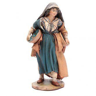 Donna con piatto 13 cm presepe Angela Tripi | vendita online su HOLYART