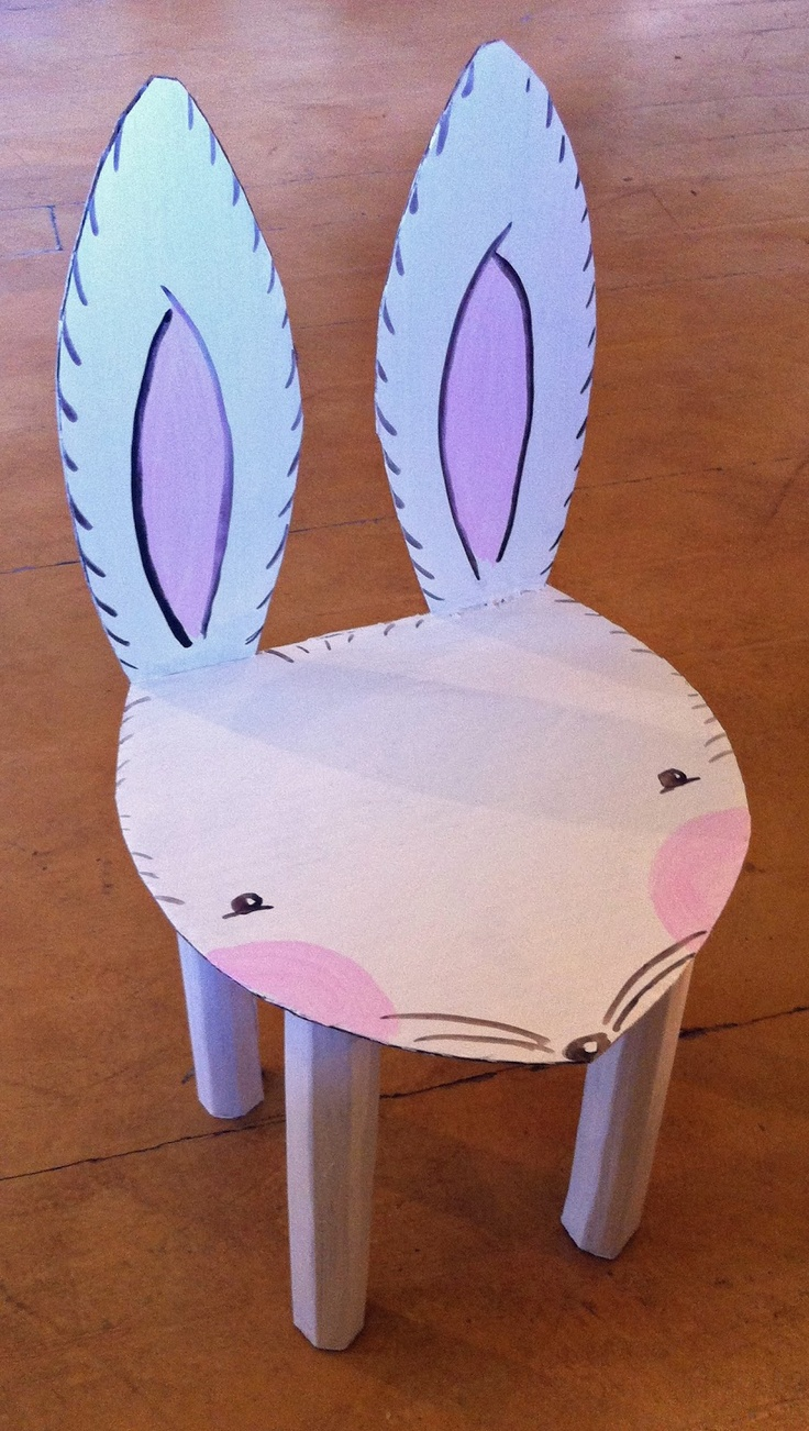 Cardboard furniture techniques how to achieve strength growing up - Cardboard Bunny Chair Have A Seat