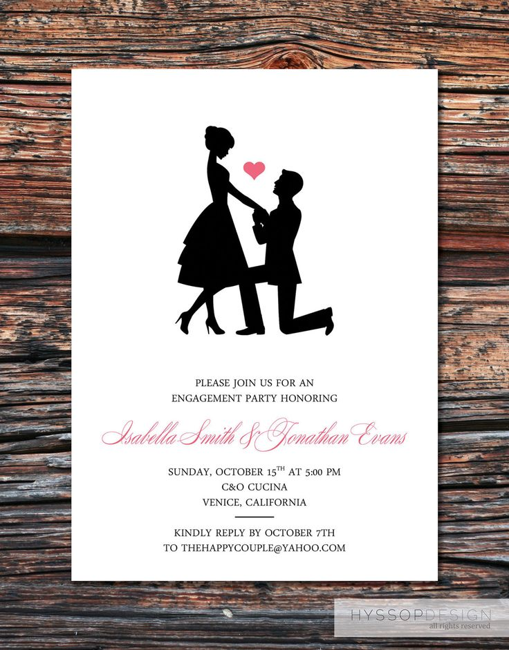 30 best images about Engagement Ideas – Free Engagement Party Invites
