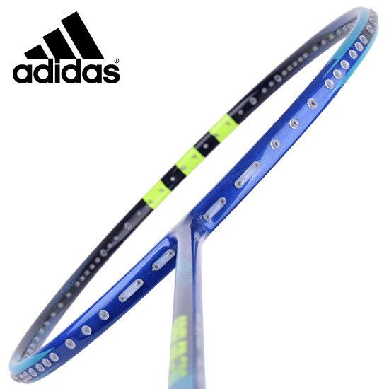 adidas Badminton Racket SPIELLER F09 Core Blue Racquet String with Cover G5 #adidas