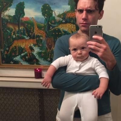 Mika and his little nephew.. (1st selfie...) <3