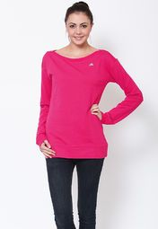 this winter wearing this pink coloured sweatshirt for women from the house of Adidas. Made from polycotton spandex, this regular-fit, stretchable sweatshirt will keep you warm and comfortable all day long. Team it with black coloured denims to look stylish.