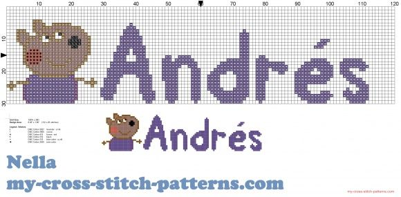 Andrés nombre con Danny amigo peppa pig (click to view)