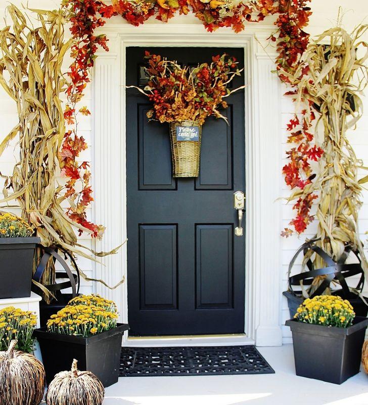 25 best fall front doors trending ideas on pinterest. Black Bedroom Furniture Sets. Home Design Ideas