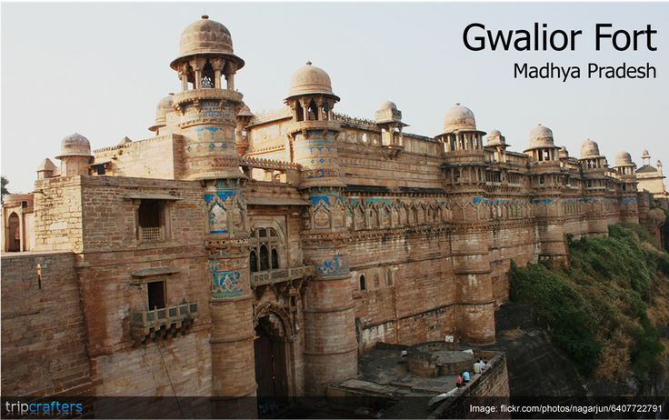 Gwalior Fort was built in around 8th century on an isolated hillock overlooking the Gwalior town. It is also one of the biggest forts in India. Know more about interesting places in #MadhyaPradesh, India.  #India | #Travel | #Gwalior