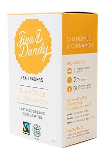 Fine & Dandy Tea - Organic Chamomile and Cinnamon. Check this and heaps more #Fairtrade products out here: http://fairtrade.org.nz/en-nz/buying-fairtrade-products #tea
