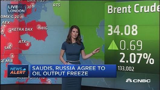 Saudis, Russia agree to oil freeze