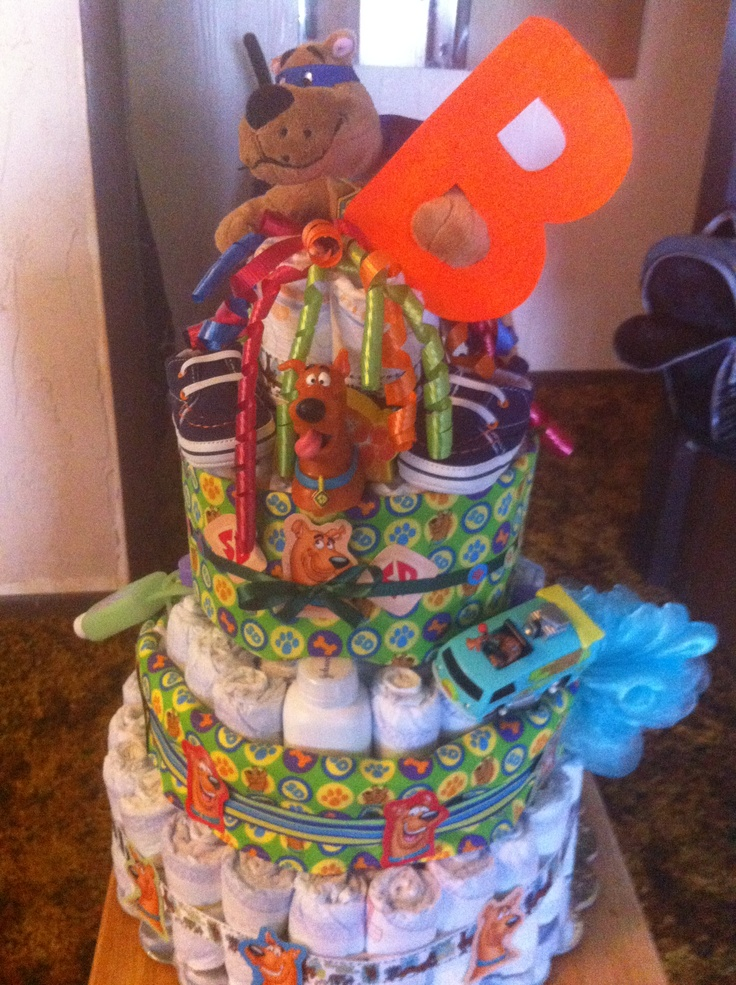 My Scooby Doo Themed Diaper Cake Diaper Cakes By Misse