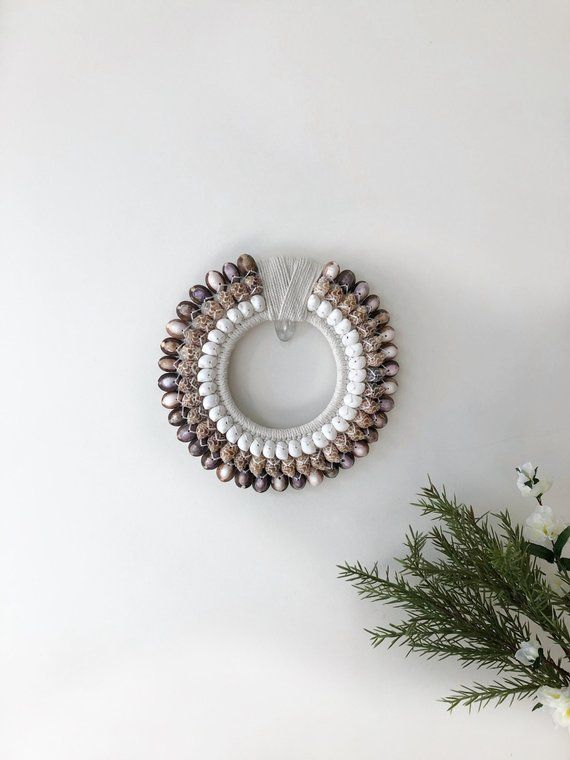 Ocean Shell Decorative Necklace Wall Hanging From Bali Wall Decor Australia Seashell Wall Art Macrame Etsy Wallha Seashell Wall Art Shell Decor Sea Shells
