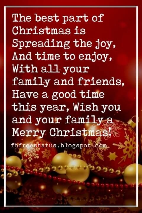 Christmas Messages For Family And Friends Christmas Quotes