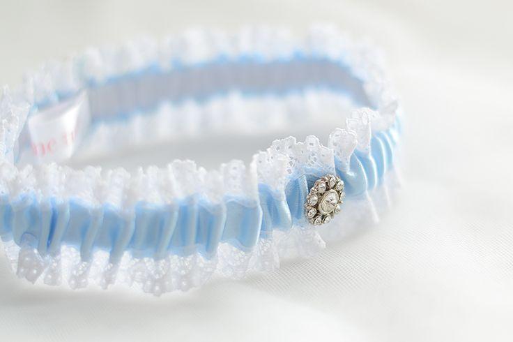 Something blue garter, lace wedding garter, bridal garter, crystal garter, toss garter