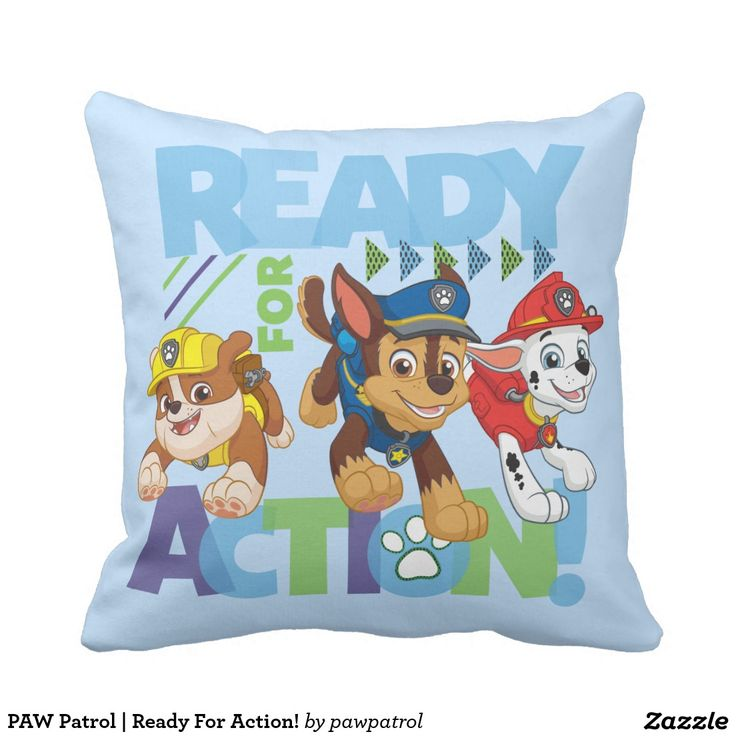 PAW Patrol | Ready For Action! Puppy, dog lover. Regalos, gifts. #cojín #pillows