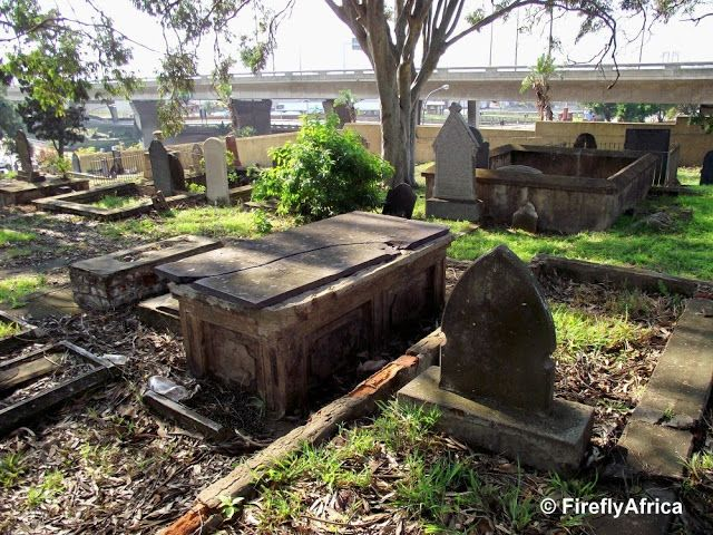 The old St Mary's Cemetery is situated between South End and the city center close to where the Baakens River flows into the Port Elizabeth Harbour. Some of the graves date back to the mid 1800's and include some of the original British Settlers who arrived on our shores in 1820. Credit: J. Fourie