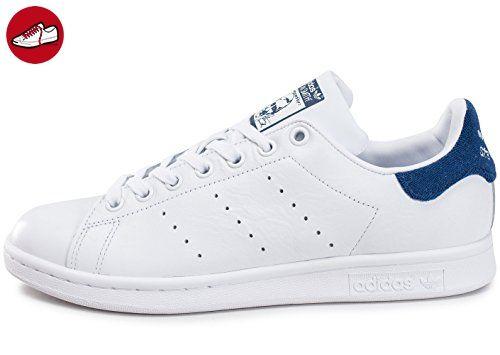 adidas Herren Stan Smith Sneakers, Weiß (Footwear White/Footwear White/Mystery Blue), 45 1/3 EU - Adidas schuhe (*Partner-Link)