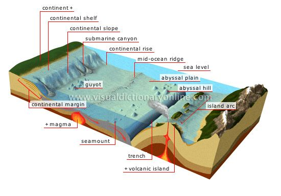 geologic landforms of the ocean floor floor part of the