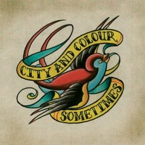 I'm considering getting this tattoed with a lyric on it instead of the band name, but I'm also on the lookout for a different design related to City and Colour; I've seen quite a few photos of this tattoo.