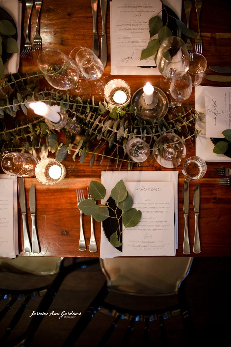 DY.o events (aka Duo)  Wedding table styling. Warm, earthy with greenery tablescape.