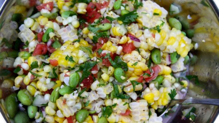 Fun summertime recipe- Fresh Corn and Watermelon Salad