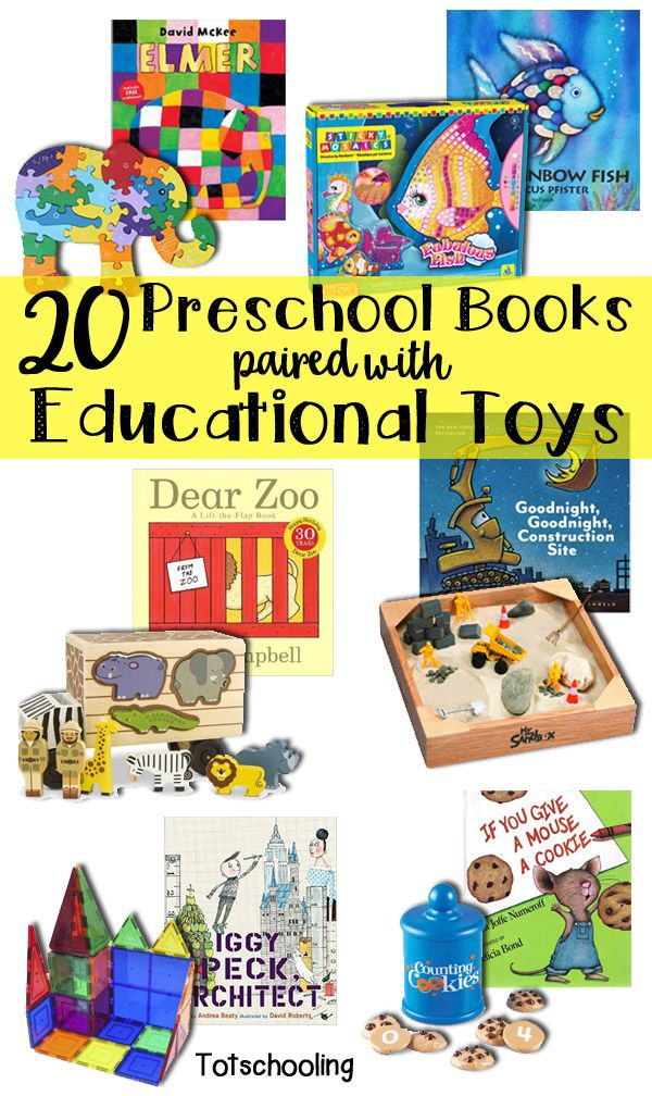 Gift guide for toddlers and preschoolers with popular books and toys to match. Perfect educational presents for holidays or birthdays.